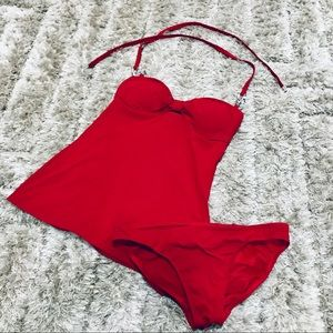 Michael Kors Red Tankini Size 4